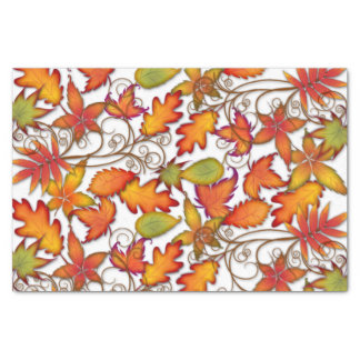 Colourful Autumn Leaves Tissue Paper