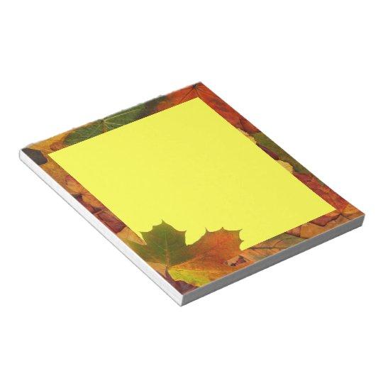 Colourful Autumn Notepad