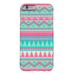Colourful Aztec Chevron Zig Zag Stripe Pattern Barely There iPhone 6 Case