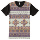 Colourful aztec pattern All-Over-Print T-Shirt