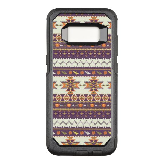 Colourful aztec pattern OtterBox commuter samsung galaxy s8 case