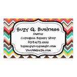 Colourful Aztec Tribal Chevron ZigZag Stripes Prin Business Cards