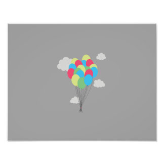 Colourful balloons photo
