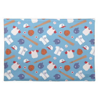Colourful Baseball Theme Pattern For Boys Place Mats