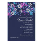 Colourful Bat Mitzvah Silver Star Glittery Card