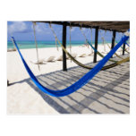 Colourful Beach Hammocks Cozumel Mexico Postcard