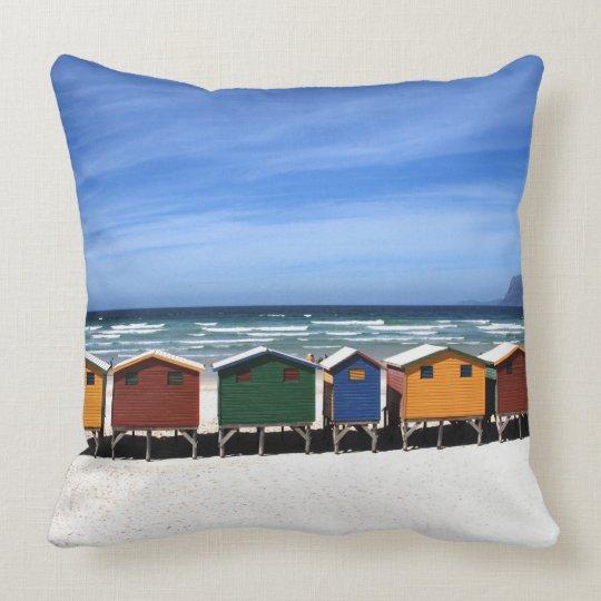 Colourful Beach Houses Pillow