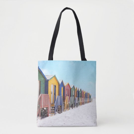 Colourful Beach Huts Tote Bag