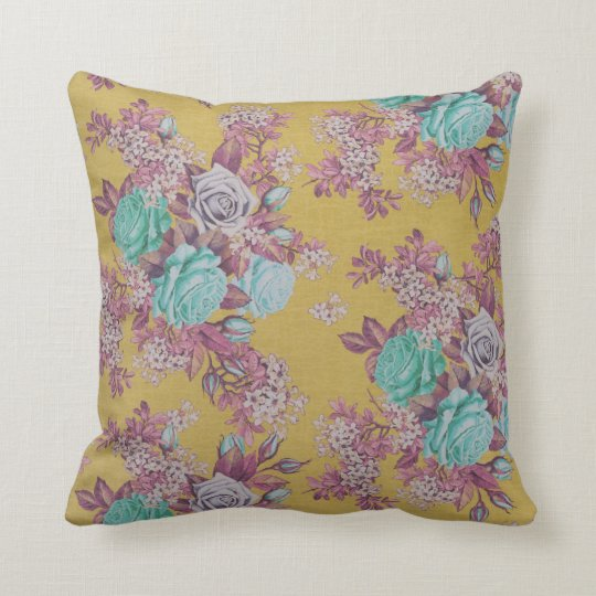 colourful beautiful flower decorative throw pillow