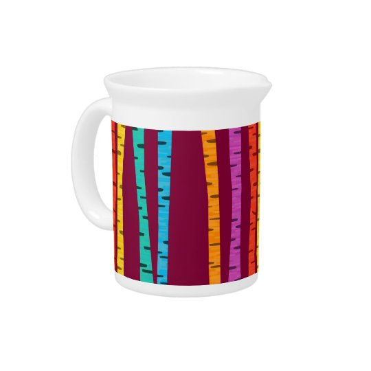 Colourful birch trees forest pitcher