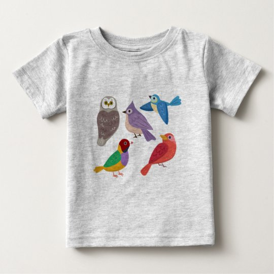 Colourful Birds Baby T-Shirt