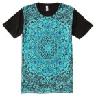 Colourful Blue Astral Travel Mandala Indie Art All-Over-Print T-Shirt
