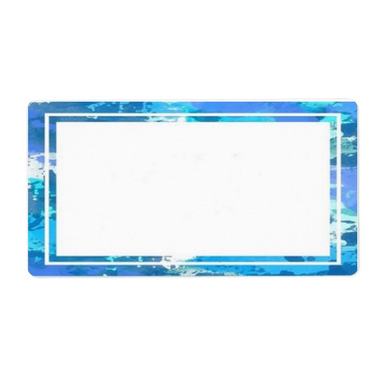 Colourful Blue Border Labels