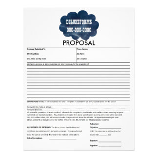 Colourful Blue Clouds Proposal Form Letterhead Template