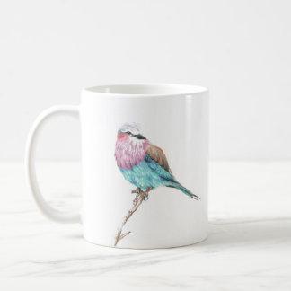 Colourful Blue & Pink Perching Song Bird Coffee Coffee Mug