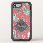 Colourful Bohemian Paisley Monogram OtterBox Defender iPhone 8/7 Case