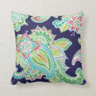 Colourful Bohemian Paisley Throw Pillow