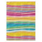Colourful Bohemian Wavy Glitter Pattern Tablecloth