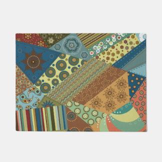 Colourful BoHo Chic Quilt Design Doormat