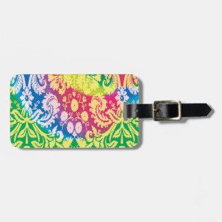 Colourful Boho in bright multicolours. Luggage Tag