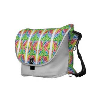 Colourful Boho in bright multicolours. Messenger Bags