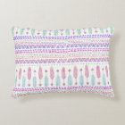 Colourful Boho Tribal Aztec Feather Arrows Pattern Accent Pillow