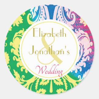 Colourful Boho Wedding sticker