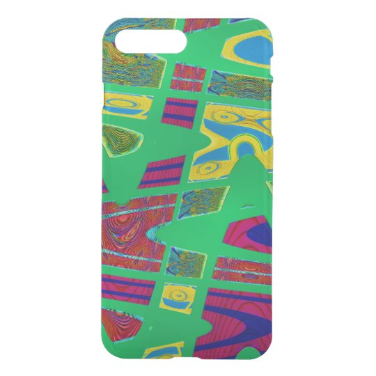 Colourful bright green abstract artwork iPhone 7 plus case