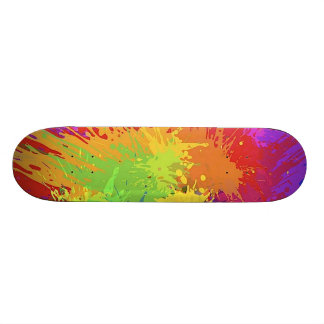 Colourful Bright Ink Splat Design Vector Skateboards