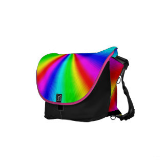 Colourful Bright Rainbow Commuter Bag