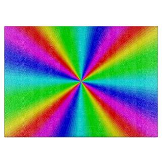 Colourful Bright Rainbow Cutting Board