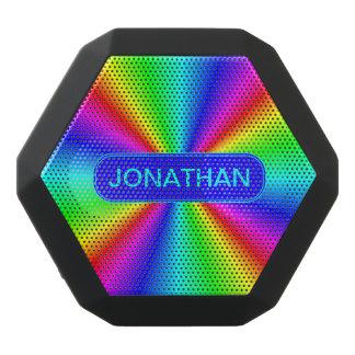 Colourful Bright Rainbow Personalize .. Black Bluetooth Speaker