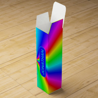 Colourful Bright Rainbow Personalize .. Wine Box