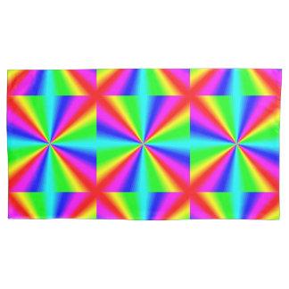 Colourful Bright Rainbow Pillowcase