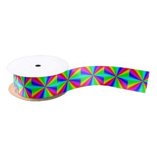 Colourful Bright Rainbow Satin Ribbon