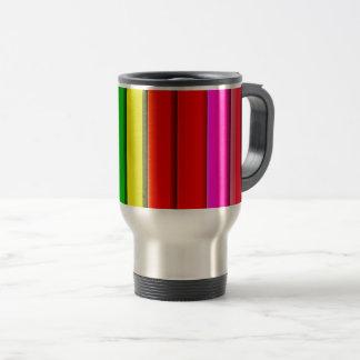 Colourful Bright Rainbow Travel Mug