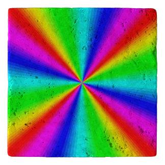 Colourful Bright Rainbow Trivet