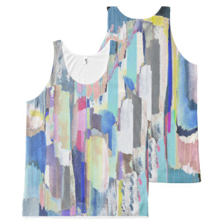 Colourful brushstrokes All-Over-Print tank top