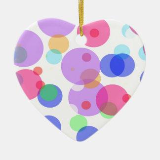 Colourful bubbles ceramic ornament