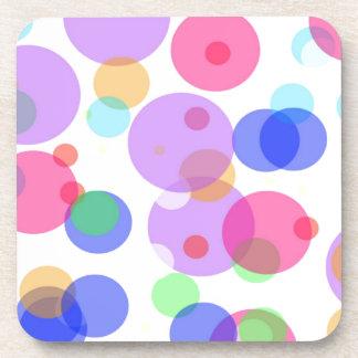 Colourful bubbles coaster