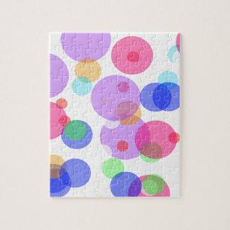 Colourful bubbles jigsaw puzzle
