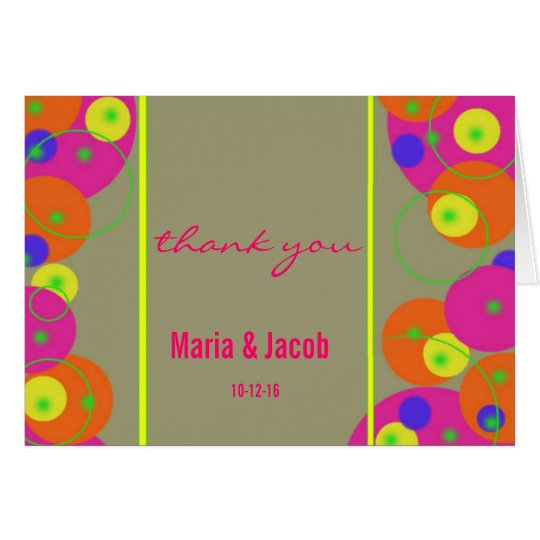 Colourful Bubbles Personal Thank You Note Card
