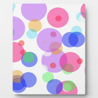 Colourful bubbles plaque