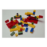 Colourful building blocks for kids poster