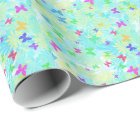 Colourful Butterflies and Daisies by Shirley Wrapping Paper