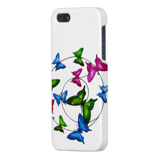 Colourful Butterflies   iPhone-5-5S-Glossy-Finish iPhone 5/5S Case