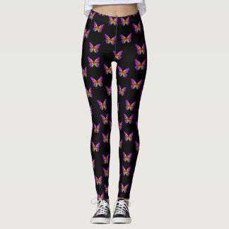 Colourful butterflies leggings