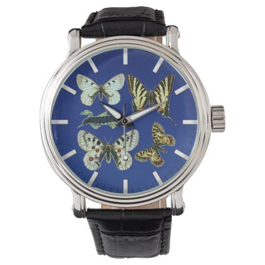 Colourful Butterflies, Moths and Caterpillars Wristwatches
