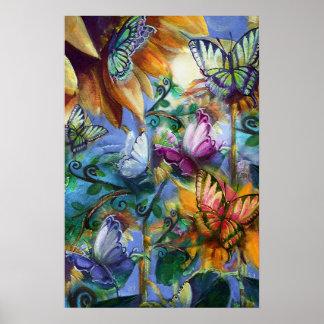 Colourful Butterflies Poster