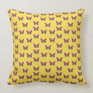 Colourful butterflies throw pillow